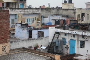 Roof terraces in a 'posh' part of Old Delhi.