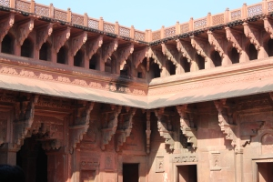 Agra Fort in the sun