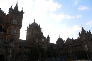 Victoria Terminus - design is based on St Pancras in London.  Jai ho!
