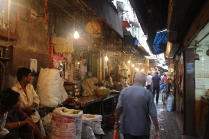 A market alleyway in south Mumbai