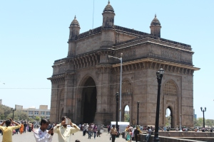 Gateway of India: the most famous landmark.  Crap photography due to restricted access (or due to crap photographer).