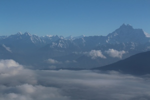 View from the plane, flying to Lukla