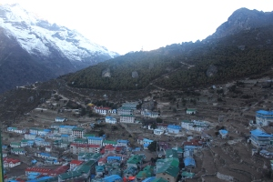 Namche Bazaar - at last - I made it!